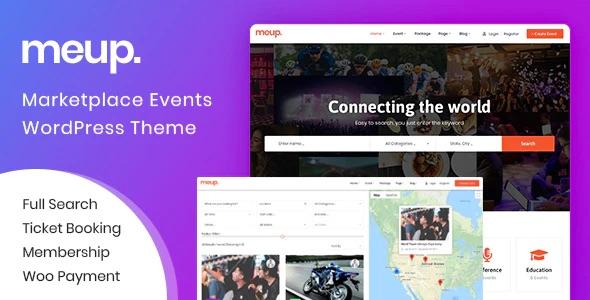 meup events wordpress directory theme